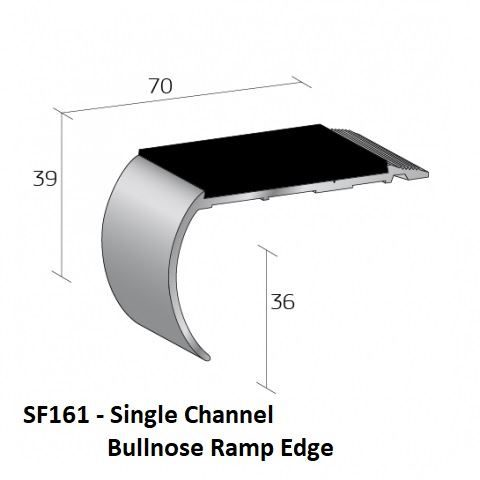 SF161 Single Channel Bullnose Ramp Edge